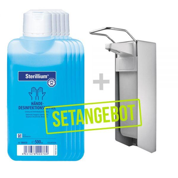 5 x Sterillium Desinfektionsmittel 500 ml + Spender