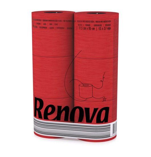 Rotes Toilettenpapier 6er Pack