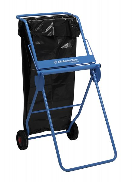 KIMBERLY-CLARK PROFESSIONAL* Mobiler Ständer für Wischtuchrollen - Großrolle / Blau