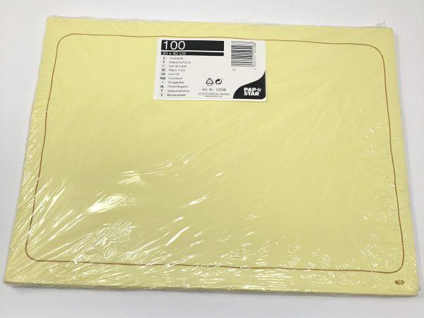 Papstar Tischsets 30 x 40 cm 100 Stk.,gelb
