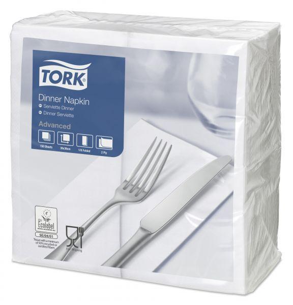 Tork Dinnerservietten Weiß 1/8 Falz