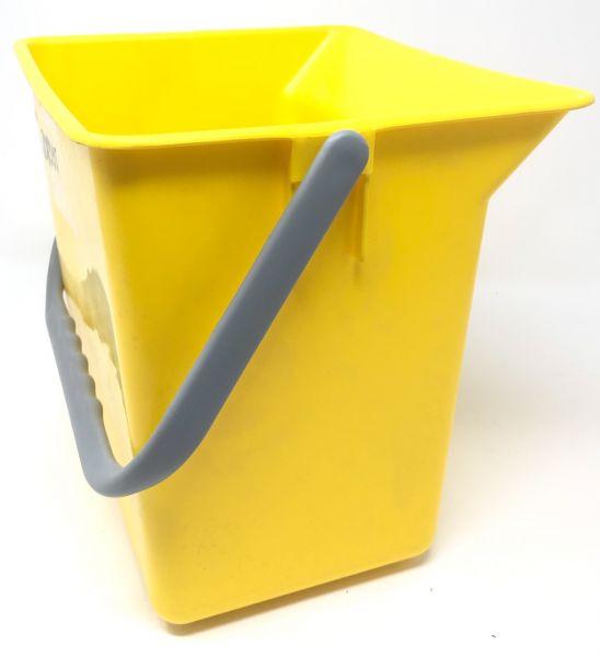 Eimer 6 L,gelb eckig