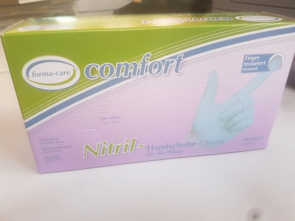 Formacare Nitril-Comfort puderfrei blau in XL