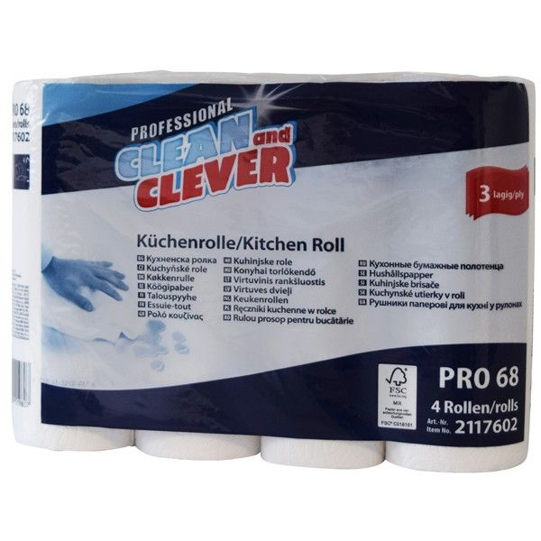 Küchenrolle 3-lagig PRO68 Clean and Clever