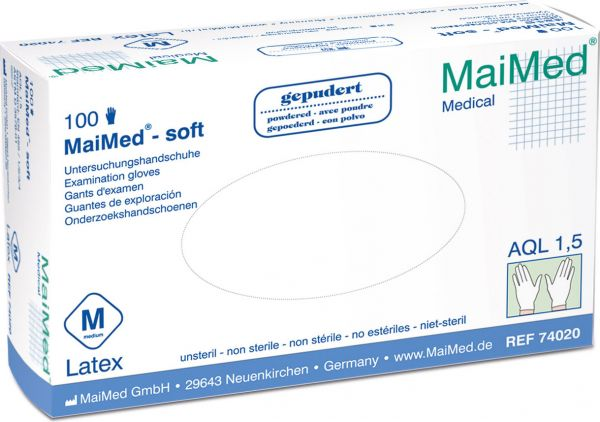 MaiMed soft Latex Einmalhandschuhe gepudert
