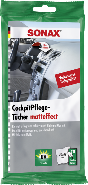 SONAX CockpitPflegeTücher Matteffect