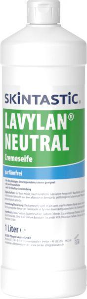 Skintastic LAVYLAN NEUTRAL parfumfrei Cremeseife für Druckspender