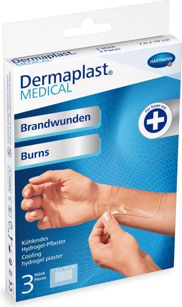 Dermaplast MEDICAL Wundpflaster für Brandwunden, Hydrogel-Pflaster
