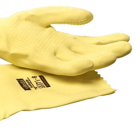 Vileda SafeGrip - Der Griffige Latexhandschuh mit Noppenprofil