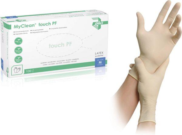 MyClean touch Latex Einmalhandschuhe puderfrei