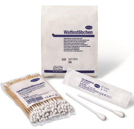 Wattestäbchen für den Einsatz im medizinischen Bereich