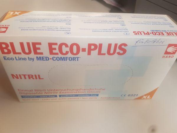 Blue Eco-Plus Nitril Einmalhandschuhe in XL puderfrei