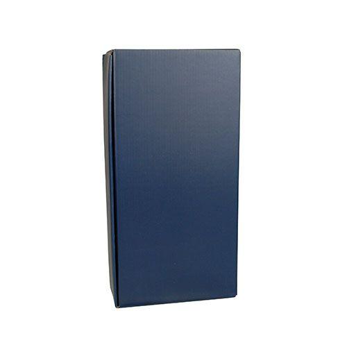 Papstar Wein-Präsentkarton 36 cm x 18 cm x 9 cm blau für 2 Flaschen