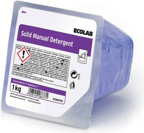 ECOLAB Solid Manual Detergent Handspülmittel in Blockform