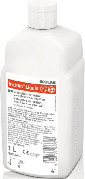 ECOLAB Incidin Liquid Gebrauchsfertiges Schnelldesinfektionsmittel