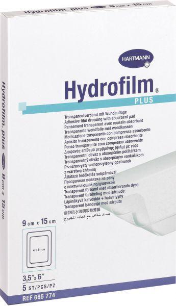 Hydrofilm Plus Transparentverband mit Wundkissen