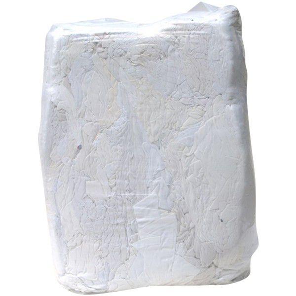 Putzlappen hochweiß Trikot, DIN61650 im 25 kg Sack