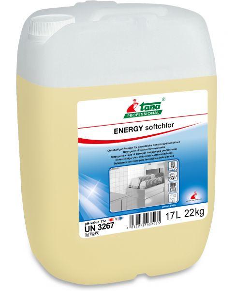 TANA energy softchlor Chlorhaltiger Reiniger für gewerbliche Spülmaschinen und weiches Wasser