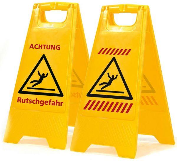 Warnschild / Aufsteller Vorsicht Rutschgefahr