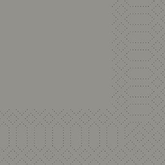 Duni Zelltuch Serviette 24 x 24cm - Granit Grau 3lg