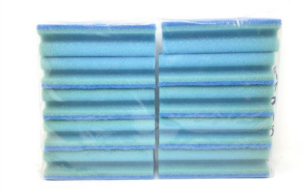 Puztschwamm 10 Stk.,15 x 7 cm,blau