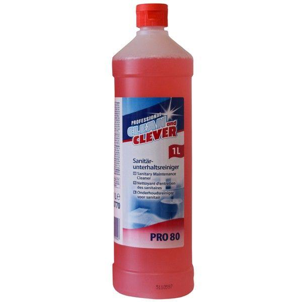 Sanitärunterhaltsreiniger PRO80 fresh Clean and Clever