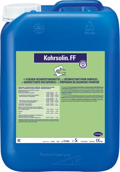 Kohrsolin FF Formaldehydridfreie Flächendesinfektion