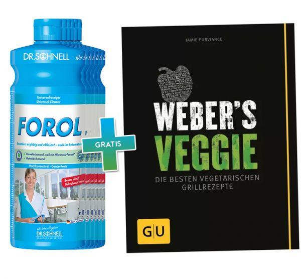 6 x Dr. Schnell Forol + GRATIS Weber's Veggie Grillbuch