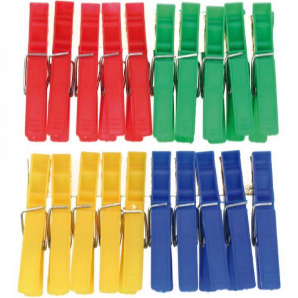 Wäscheklammern 20er Pack farbig sortiert 7 x 1 cm