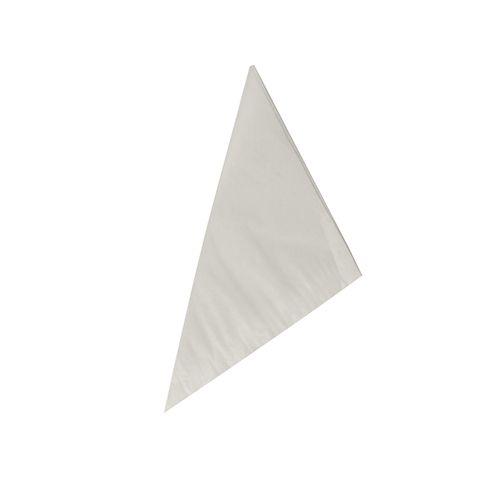 Papstar Spitztüten, Pergament-Ersatz, gefädelt 17 cm x 17 cm x 24 cm weiss Füllinhalt 10