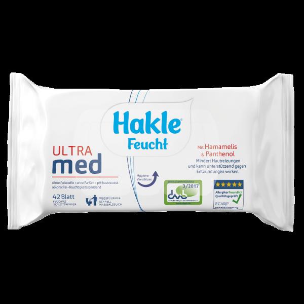 Hakle ultra MED feuchtes Toilettenpapier