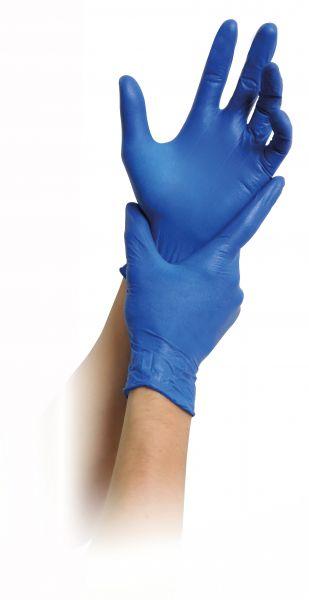 MaiMed vinyl blue Einmalhandschuhe puderfrei