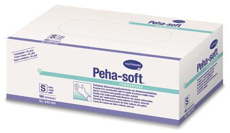 Peha-soft Latex puderfrei Einmalhandschuhe