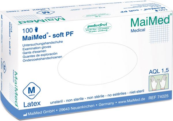 MaiMed soft Latex Einmalhandschuhe puderfrei