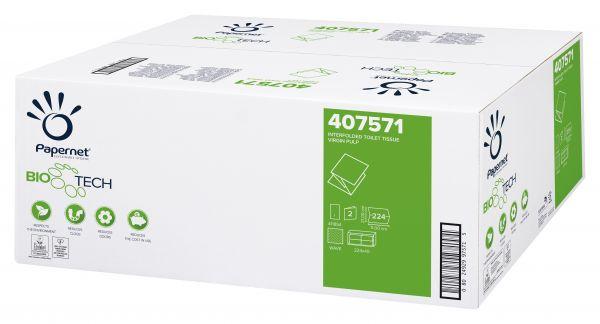 Biotech Toilettenpapier Einzelblatt 2-lagig