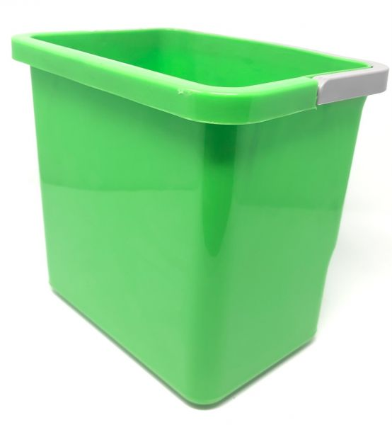 Eimer 6 L,grün eckig