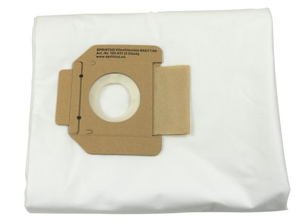 102031 SPRiNTUS Staubsaugerbeutel für N55/2 E, N77/3 E, N80/2 K, Waterking XL
