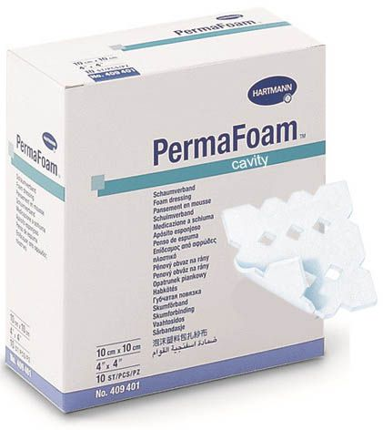 PermaFoam cavity Hydrophiler Schaumstoffverband mit Porenstruktur
