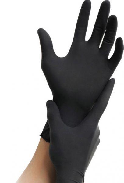 schwarze Nitril-Handschuhe größe M