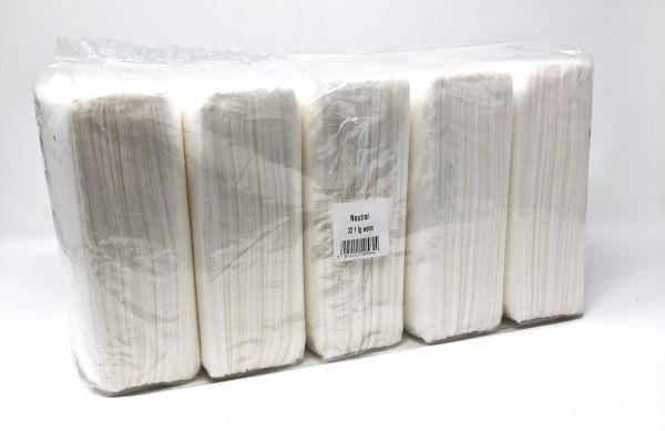 500 Prägeservietten weiß, 1-lag. 33x33cm