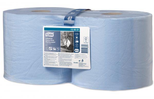 Tork Extra Starke Industrie Papierwischtücher 3-lagig blau