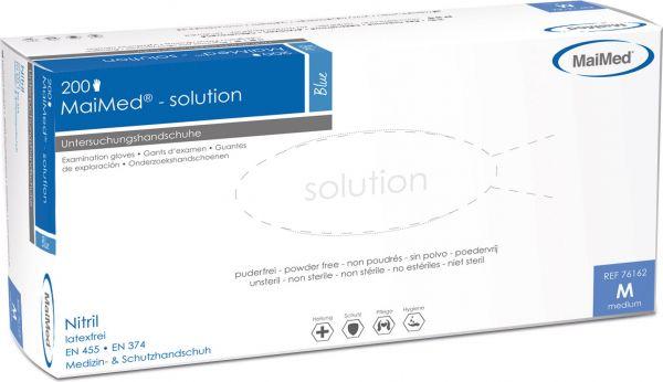MaiMed solution blau Nitril Einmalhandschuhe puderfrei