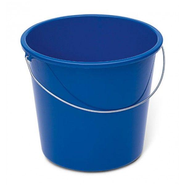 Haushaltseimer blau mit Metallbügel