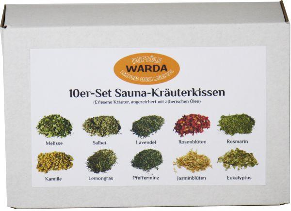 WARDA Sauna Kräuterkissen Set