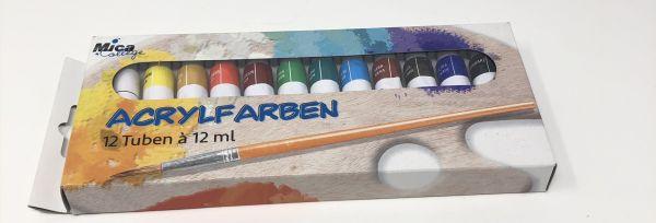 Mica College Acrylfarben 12 Tuben/ Farben