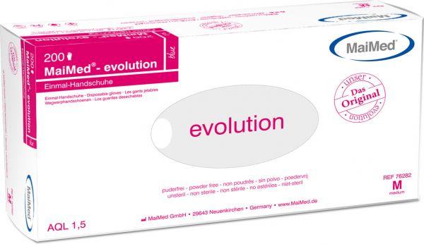 MaiMed evolution blau Einweghandschuhe puderfrei