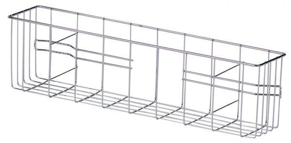 floorstar Seitenkorb für Doppelfahrwagen aus Chrom