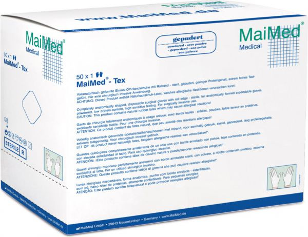 MaiMed Tex steril latex Einmalhandschuhe gepudert