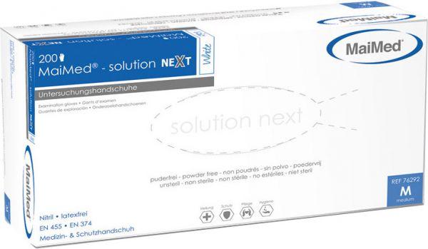 MaiMed solution next weiß Nitril Einmalhandschuhe puderfrei