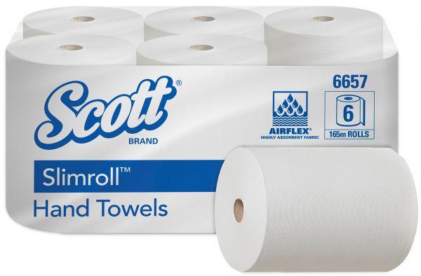 SCOTT® SLIMROLL* Handtücher - Weiß